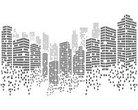 Modern City skyline vector illustration stock illustration