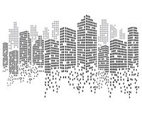 Modern City skyline vector illustration vector illustration