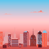 Modern city skyline vector Royalty Free Stock Images