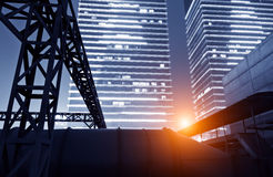 The modern city of skyscrapers Stock Photography