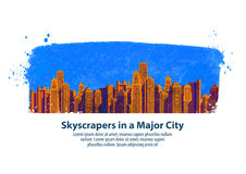 Modern city. skyscrapers. vector illustration Royalty Free Stock Image