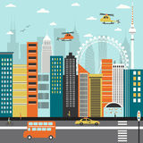 Modern city street Royalty Free Stock Images