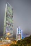 Modern city streets and office buildings Hong Kong, China. Stock Photo
