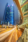 Modern city streets and office buildings Hong Kong, China. royalty free stock photography