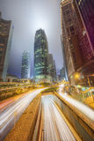 Modern city streets and office buildings Hong Kong, China. Stock Images