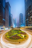 Modern city streets and office buildings Hong Kong, China. Royalty Free Stock Images