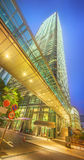 Modern city streets and office buildings Hong Kong, China. stock photography