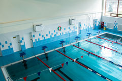 Modern city swimming pool with six Stock Images