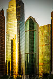 In modern city of tall buildings Stock Image