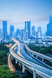 Modern city traffic background Stock Photography