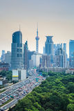 Modern city and traffic Royalty Free Stock Image
