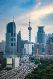 Modern city and traffic Stock Image