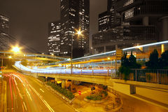Modern city traffic at night Stock Photography