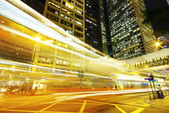 Modern city traffic at night Stock Images