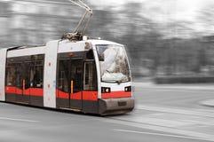 Modern city tram in Vienna Stock Photography