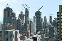 Modern city under construction Stock Images