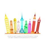Modern City Vector Illustration Royalty Free Stock Photos