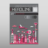 Modern City vector template layout size A4 Royalty Free Stock Photos
