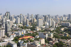 Modern city view of  Bangkok, Thailand in the morning time. Royalty Free Stock Photo