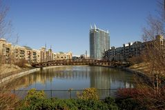 Modern City Village. In Midtown Atlanta, GA stock photo
