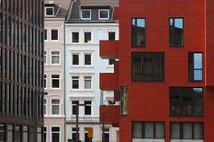 Modern cityscape av Hamburg i område för St Pauli Royaltyfria Foton