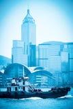 Modern cityscape i Hong Kong arkivbild