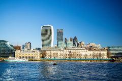 Modern cityscape of London. With blue sky Stock Photos