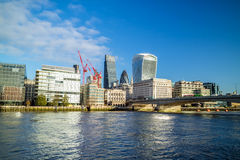 Modern cityscape of London. With blue sky Royalty Free Stock Image