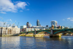 Modern cityscape of London. With blue sky Stock Image