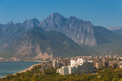 Modern cityscape and nature of beautiful Antalya, Turkey Stock Image
