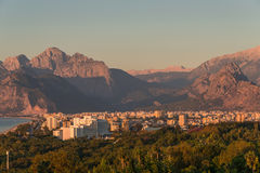 Modern cityscape and nature of beautiful Antalya, Turkey Royalty Free Stock Photos