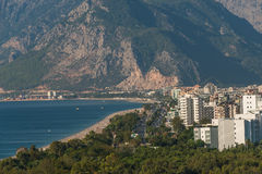 Modern cityscape and nature of beautiful Antalya, Turkey Stock Images