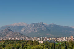 Modern cityscape and nature of beautiful Antalya, Turkey Stock Photography