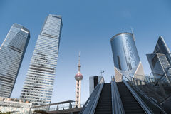 Modern cityscape of shanghai Stock Photos