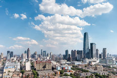 Modern cityscape of tianjin Royalty Free Stock Image