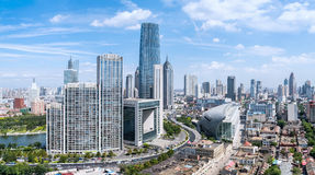Modern cityscape of tianjin Stock Photos