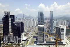 modern cityscapemetropolis Arkivbilder