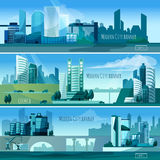 Modern Cityscapes Banners Royalty Free Stock Photo