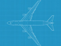 Modern civil airplane. High detailed vector illustration of modern civil airplane Stock Photography