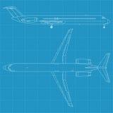 Modern civil airplane Royalty Free Stock Image