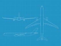 Modern civil airplane Stock Images