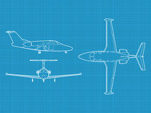 Modern civil airplane Stock Image