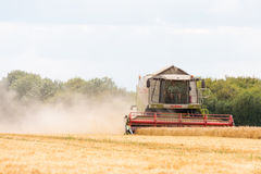 Modern claas combine at harvest time Royalty Free Stock Photography