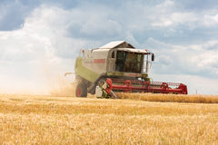 Modern claas combine at harvest time Royalty Free Stock Image