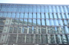 Modern cladding. View modern cladding glass front Royalty Free Stock Photos