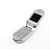 Modern clamshell cell phone Royalty Free Stock Photo