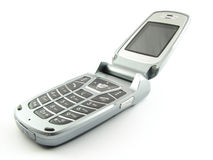 Modern clamshell phone. Isolated on a white background Royalty Free Stock Photography