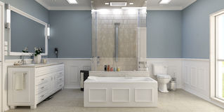 Modern classic bathroom with wc Stock Image