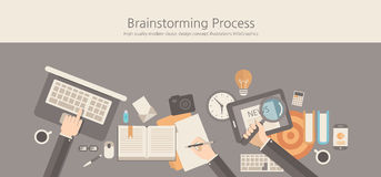 Modern and classic design brainstorming process concept. Stock Photos