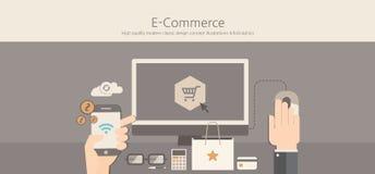 Modern and classic design e-commerce concept Stock Image